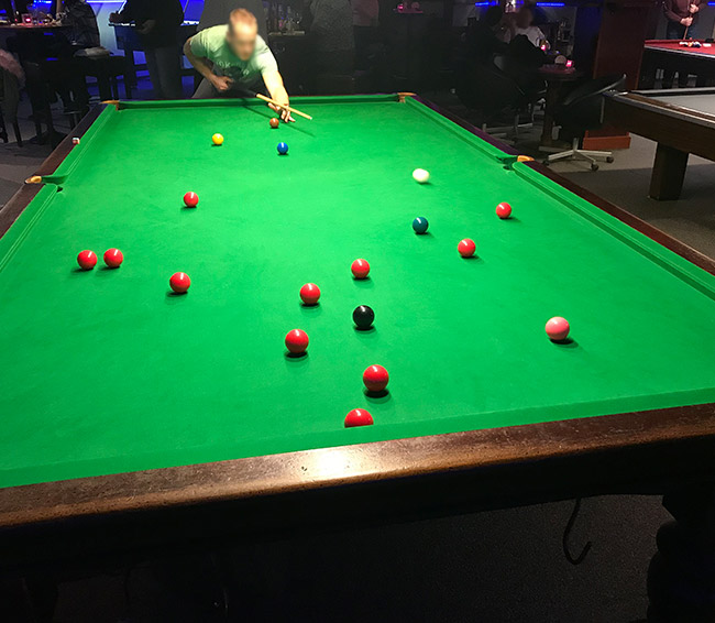 Snooker im Bistro Limburg
